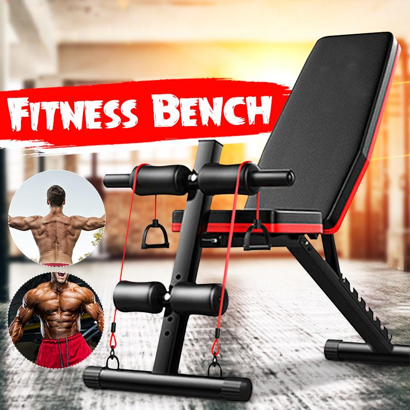Weight Bench Adjustable Benches Foldable Workout Bench Sit Up Abs Benchs Flat Press Full Body Training Workout Bench Multifunctional Exercise Equipment for Home Gym