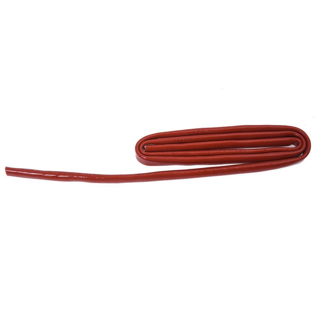 4pcs 3.3Ft 1M Long 6mm Dia Black Polyolefin Heat Shrinkable Tube