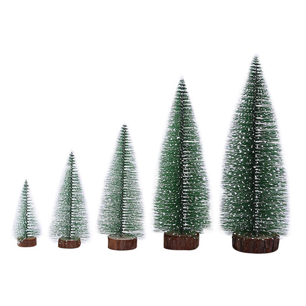 3PCS//SET 20cm Artificial Mini Christmas Tree Table Ornaments Tabletop Home Decor