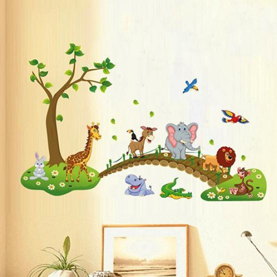 Cute Bone Shaped Wall Sticker Decal Vinyl Wall Art Kids Girls Bedroom Decoration