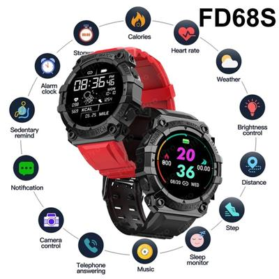 FD68S Smart Watch Super Long Standby Sports Smartwatch Heart Rate Blood Pressure Monitor Intelligent Clock Hour Dial Push Weather Watch