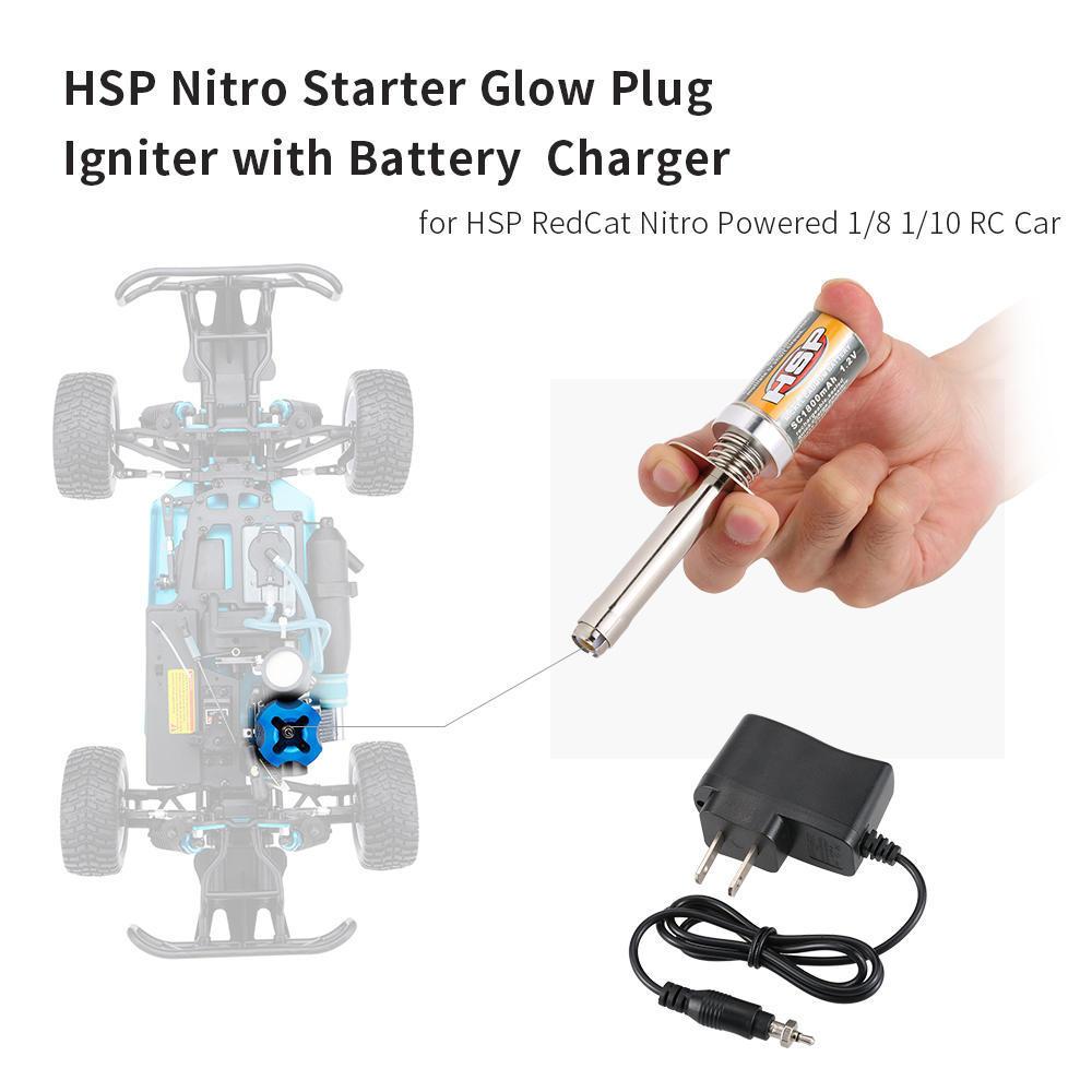 Nova Bateria AA Starter Glow Plug Igniter por 1//10 HSP Redcat Exceed Nitro Carro Rc