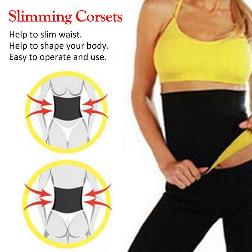 Yellow Hot Slimming Exercise Belt Body Shaper Belly Trimmer Waist Neoprene Sweat Slim Belt Sauna Fat Burner Tank Stomach XXL Unisex