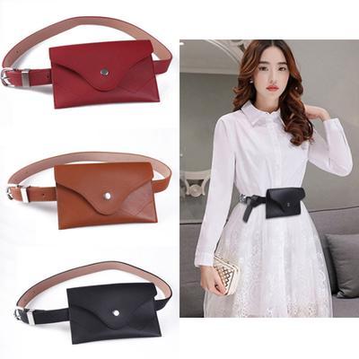 Women Fashion PU Waist Bag Purse Belts Practical Daily Travel Leather