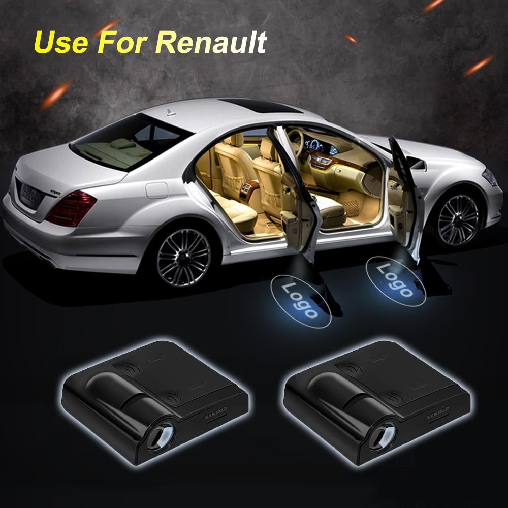 2Pcs Wireless Universal Car Projection LED Projector Door Shadow Light Welcome Light Laser Emblem Logo Lamps Kit No Drilling Required for Mazda