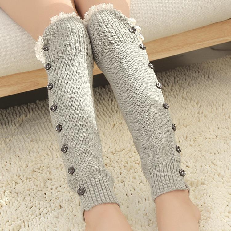 Crochet de las mujeres encaje ajuste Toppers puños forro pata ...