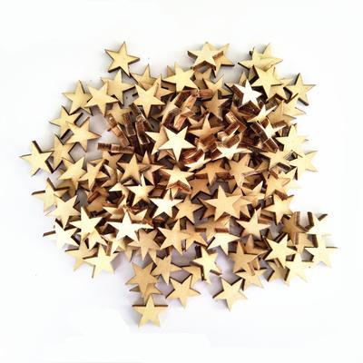 Lot Of 150pcs Mdf Cut Wooden Stars Shapes Crafts Pieces Diy