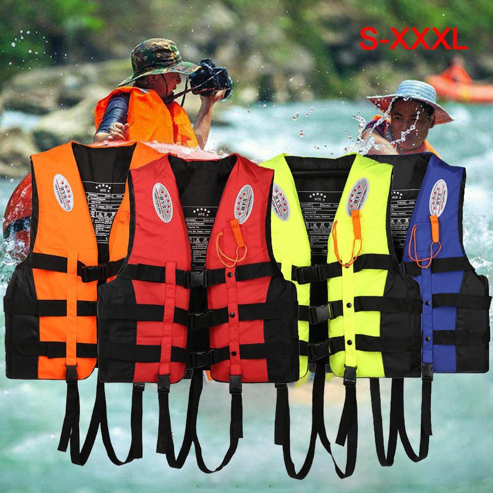 Whistle Adults Kids Life Jacket Kayak Ski Buoyancy Aid Vest Boating Watersport