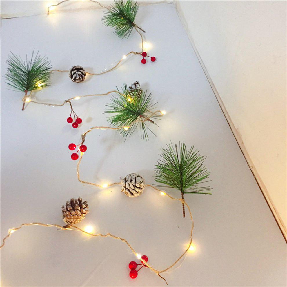 Christmas Party 2M 20LEDs Copper Wire Pine Cone Lights Xmas Tree Home Decoration
