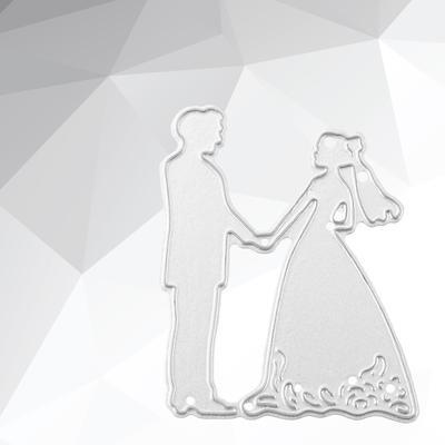 Dancing bride and groom Metal Cutting Dies DIY Etched Dies Craft Paper