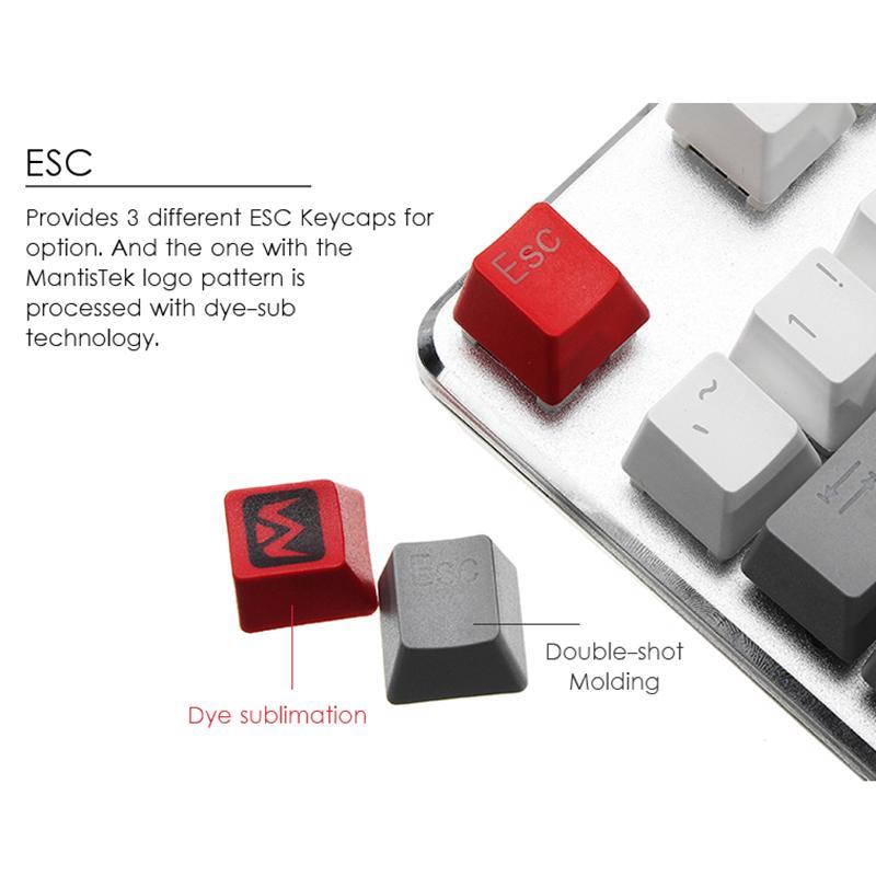For mechanical keyboard mantistek 110 double-shot mold backlit PBT keycaps