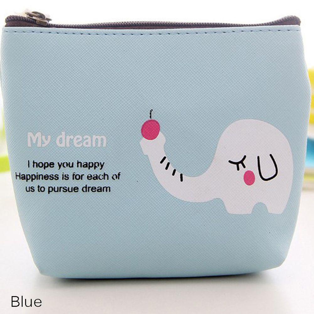 Storage Bag Cartoon Zebra Elephant Pattern Change Pouch Coin Bag Purse Wallet