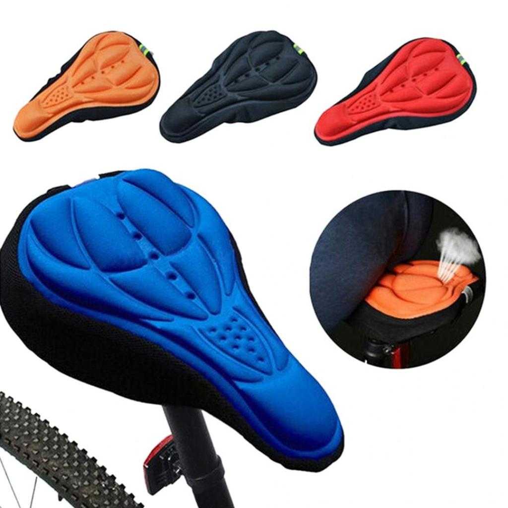 3D Soft Silicone Bicycle Gel Saddle Seat Cover MTB Road Bike Cycling Cushion Pad