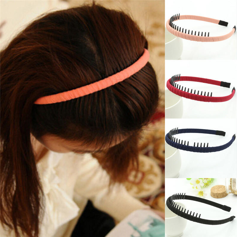 Glitter Hairband with Teeth Hair Accessory Supply Baby Headband Supply Hairband for DIY Sparkly Headband with Teeth
