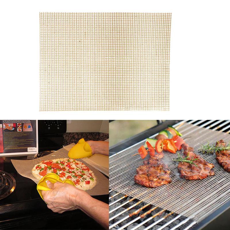 Round BBQ Mesh Grill Mat High Temperature Resistant Barbecue Pad NonStick Tools