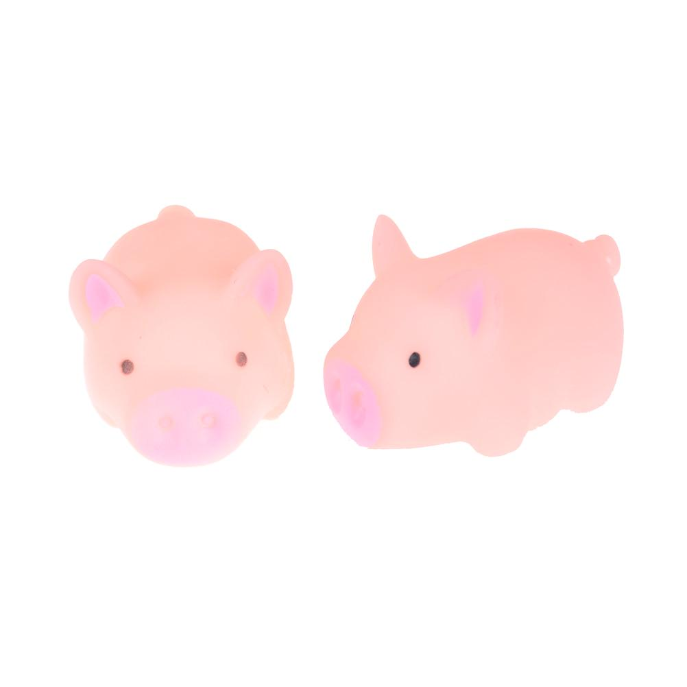 Pink Pig Soft Animal Squishy Healing Squeeze Toy Gift Stress Reliever Decorator