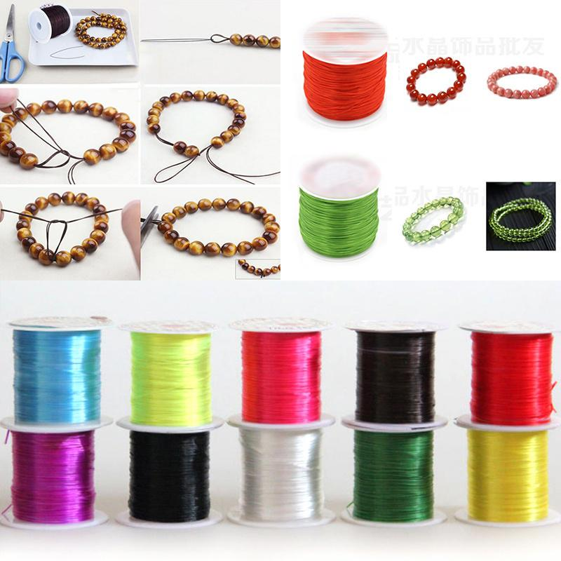 2Rolls Elastic Stretchy Beading Thread Cord Bracelet String Jewelry Making 1Mm