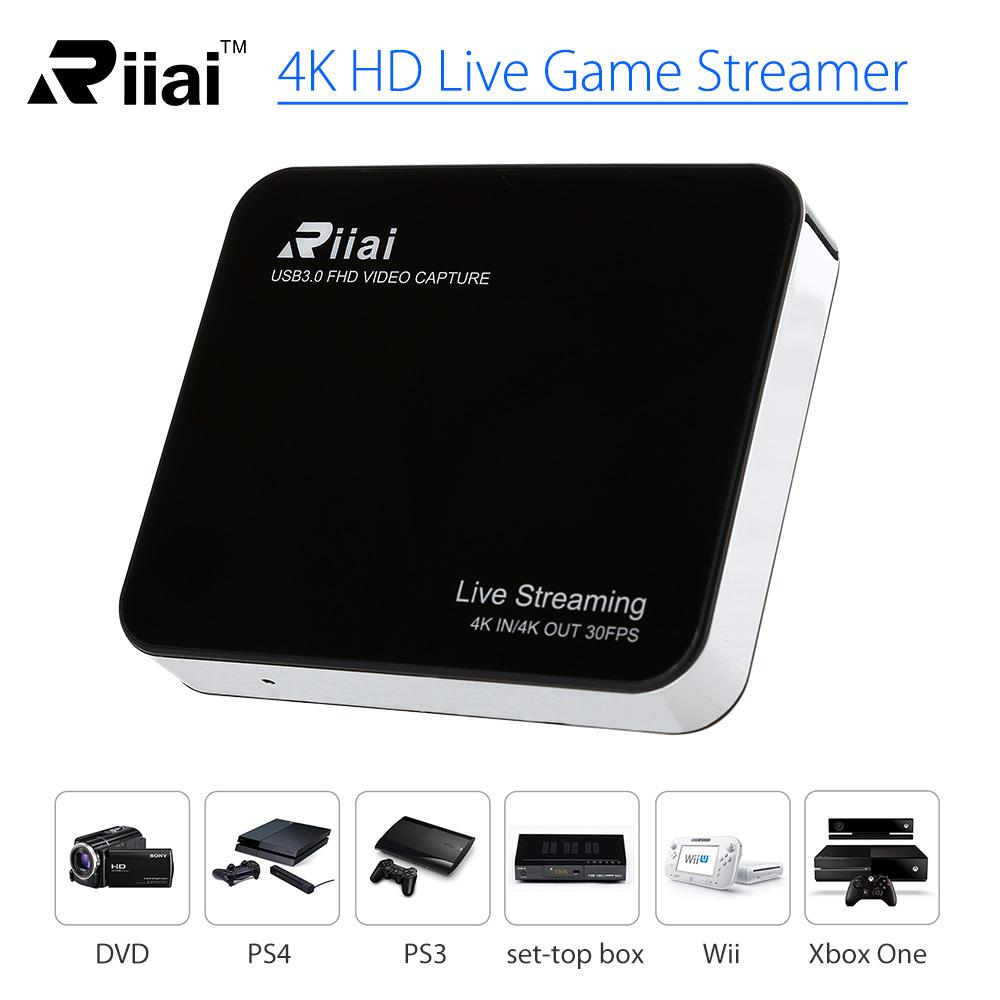 4K IN/OUT Ultra HD Video Capture Live Streaming Audio Recorder USB 3 0 For  OBS Studio VLC Amcap XBOX
