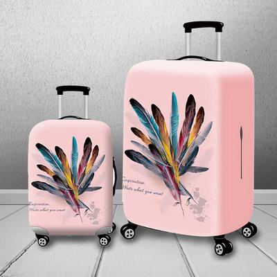 Travel Luggage Duffle Bag Lightweight Portable Handbag Feather Print Large Capacity Waterproof Foldable Storage Tote
