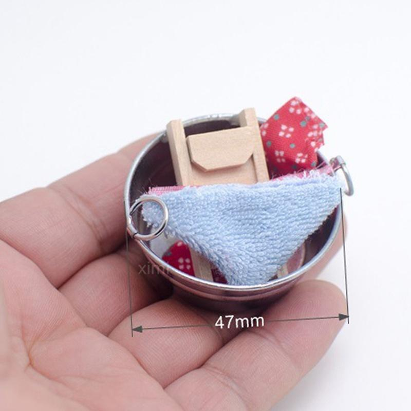 Miniatur Badewanne Puppenhaus Waschzubehör Waschbrett Wäsche Blechwanne 1zu12 Puppenstuben & -häuser