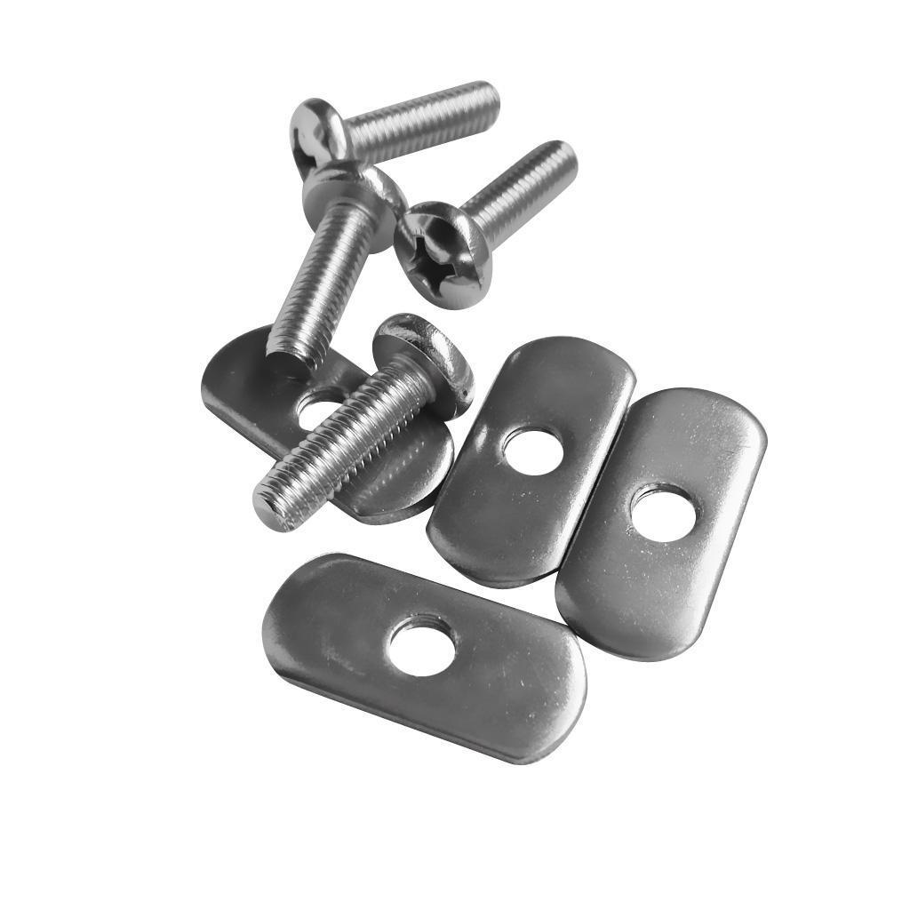 4Set Stainless Steel Kayak Rail//Track Screws /& Track Nuts Hardware Gear Mounting