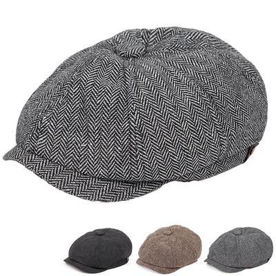 Men's Flat Top Hat Ivy Gatsby Driving Cap Autumn Winter Fashion Newsboy Hat