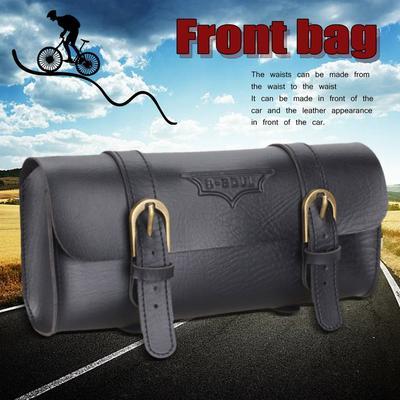 Saddle bag black velox pu bike bicycle vintage retro