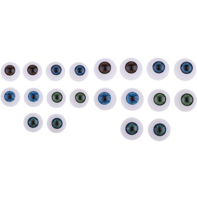 4pcs Vivid Acrylic Oblate Eyeball Eyes For Baby Doll BJD Doll Accs DIY 24mm