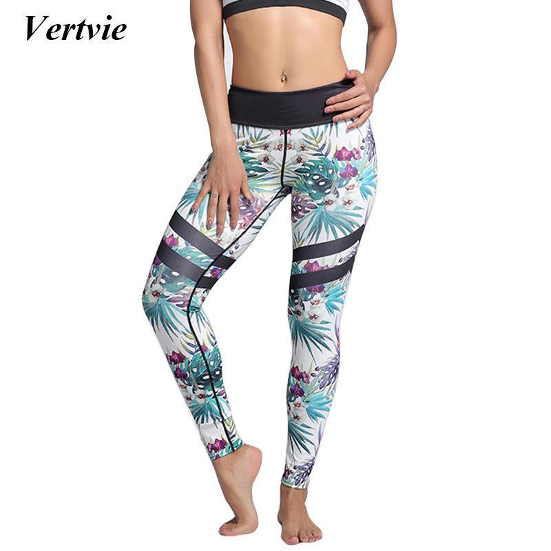 70ee461f5b Kobiety Mesh Hollow Yoga Spodnie Legginsy Oddychające Wydrukowano ...