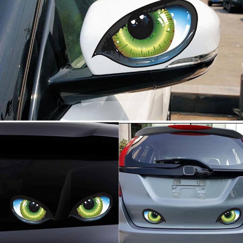 Stickers Car Body Sticker 3D Stereo Eyes Reflective Sticker Car Stickers
