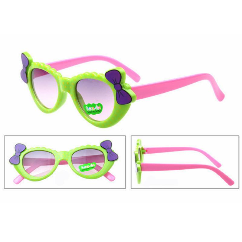 1PCS Children/'s Anti-UV Glasses Lenses Kids Sunglasses Bowknot Cartoon Glasses