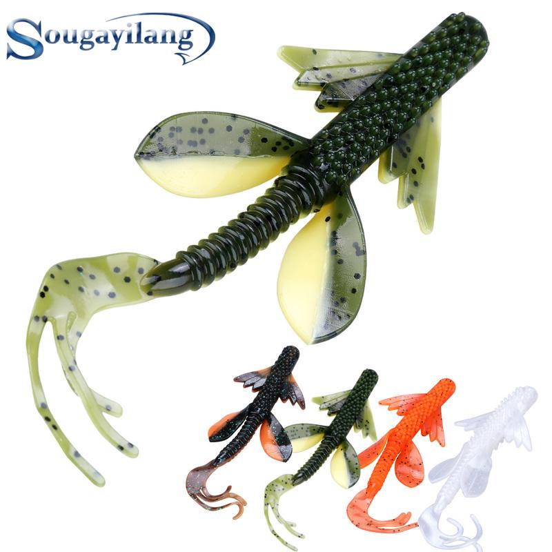 5Pcs Weighted Soft Jelly Rubber Hook Bait Fishing Lure Paddle Roach Perch Pike