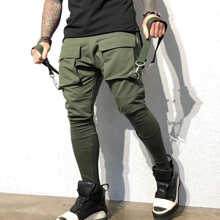 Mens Harem Pants Jogger Sporty Skinny Trousers Sweatpant Track Fit Slim Bottoms