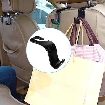 FC 2Pcs Creative Car Seat Back Hooks Hangers Organizer Universal Headrest Mount Storage House