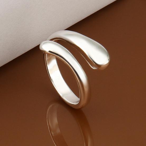 Кольцо женщины моды роскошь раунд змея голову открыть Кольцо обручальное кольцо юбилей подарок фото