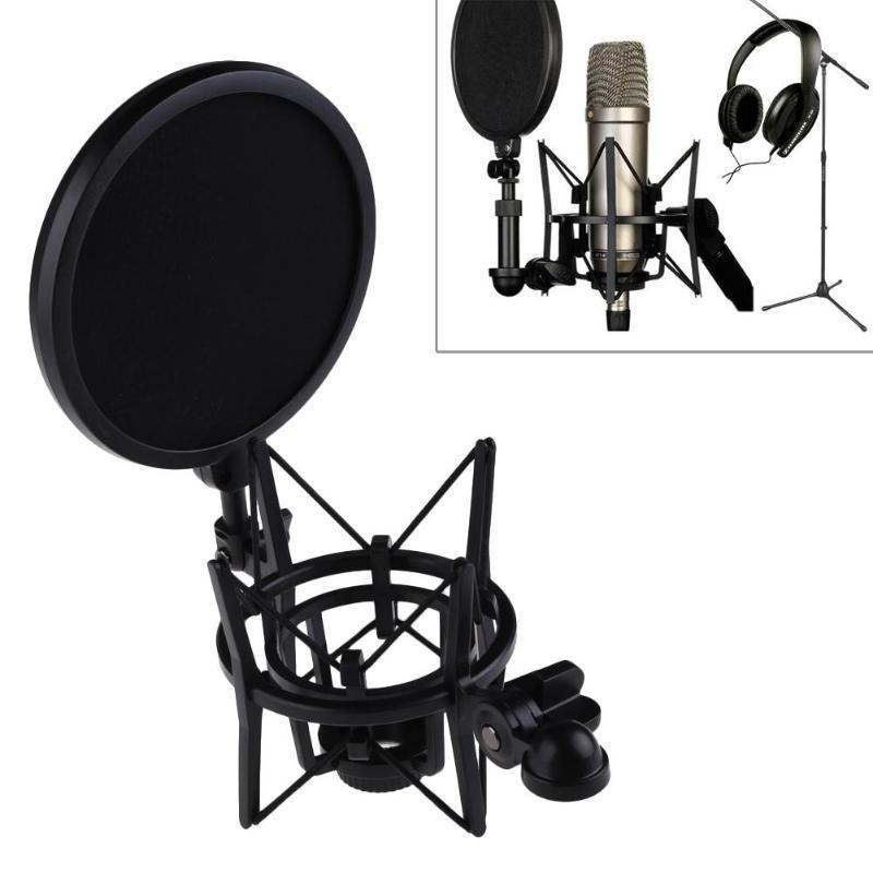 Mikrofon Mic Professionelle Shock Mount Mit Pop Schild Filter Bildschirm Heimelektronik Zubehör
