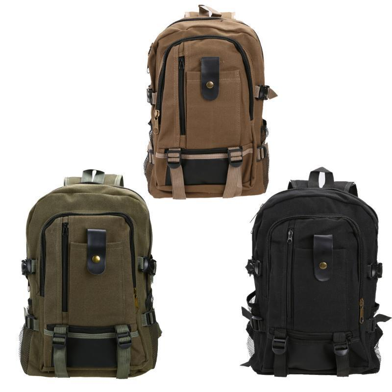 2017新款时尚帆布登山包旅行包电脑包双肩背包