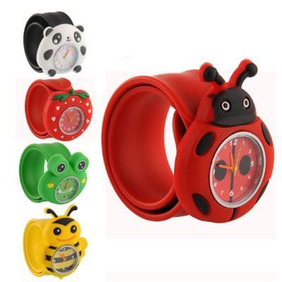 Trendy Cartoon Kids Watches Animal Children Quartz-Watches Sport Bendable Rubber Strap Wristwatch