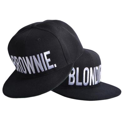 aa173ed2e BLONDIE/BROWNIE Letter Printed Hip-hop Hats Embroidered Couple Best ...