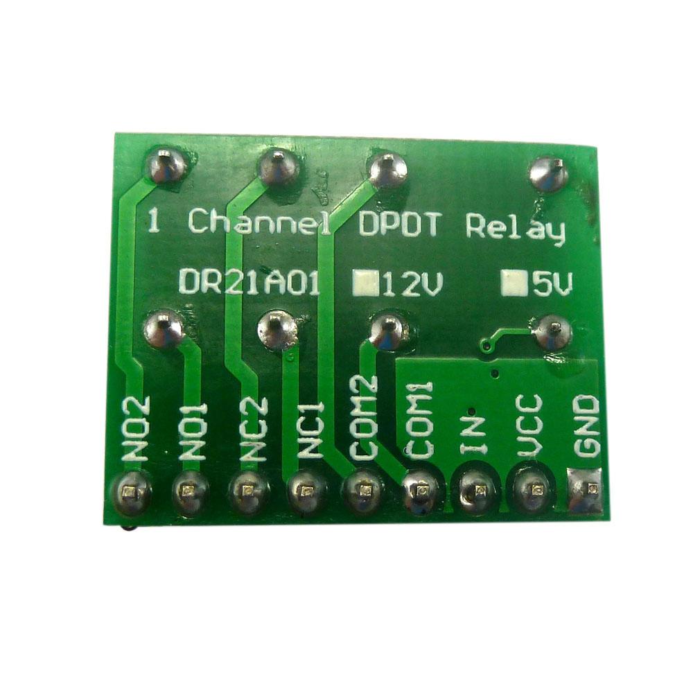 Mini-DC 12V DPDT DPDT Relais Modul Verpolungsschutz Switch Board ...