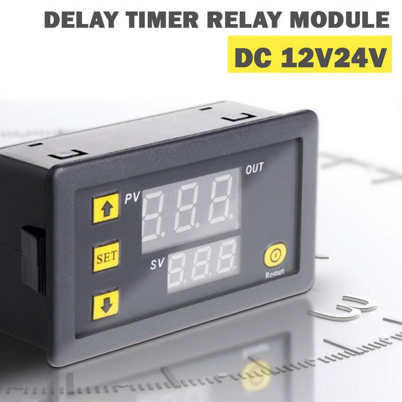 Digital Dual LED Timer Delay Relay Timing Controller Microcomputer Module DC 12V