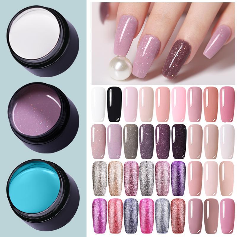 LEMOOC 5мл Цвет геля ногтей польские блестки сияющий замочить ногтей искусства гель варнис фото