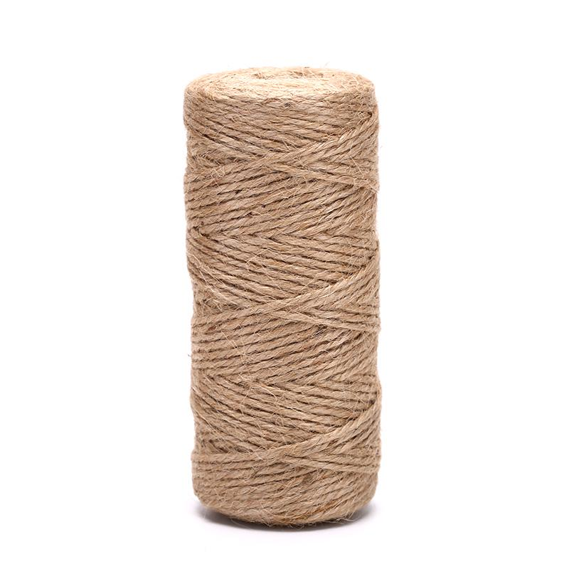 100M Natural Hemp Linen Cord Twisted Burlap Jute Twine Rope String Craft Decor