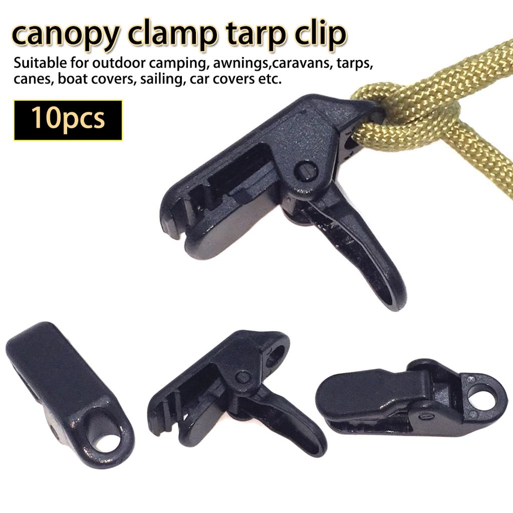 10PCS Canopy Clips Clamps Great for Camping Canopies Tents Canvas Car Boat Cover