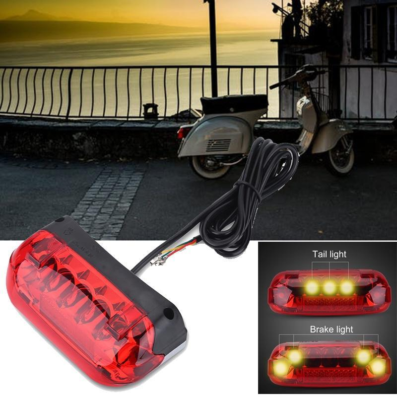 Bicycle Tail light Ebike LED Warning Rear Lamp 36V//48V Rear Light Tail Light
