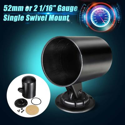 "1PC 52mm 2/"" Black Single Hole Dash Gauge Pod Mount Holder Swivel Bracket for Car"