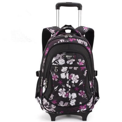 Compre Crianças Mochilas Escolares Crianças Viajar Saco De Bagagem De Rolamento Trolley Mochila Escolar Meninas Mochila Criança Saco De Livro 3 Rodas