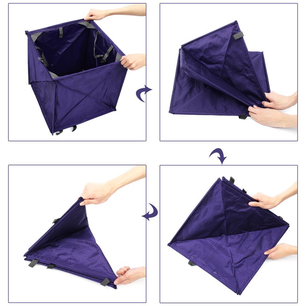 Folding Throw Line Cube Storage Bag Arborist Lineman Collapsibble 400D Nylon