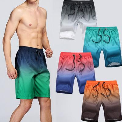 Green Leopard Print Animal Quick Dry Elastic Lace Boardshorts Beach Shorts Pants Swim Trunks Swimsuit with Pockets.