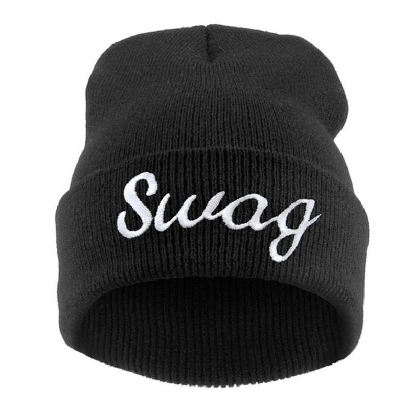 Letra SWAG Hip Hop sombreros gorros baratos mujeres punto Capo ... 20125edd043
